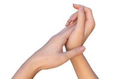 woman-applying-skin-care-cream-to-hands-closeup-female-touching-each-other-palm-palm-touches-palm-her-55314359