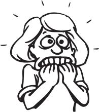 fear-clipart-nervous-woman-cartoon