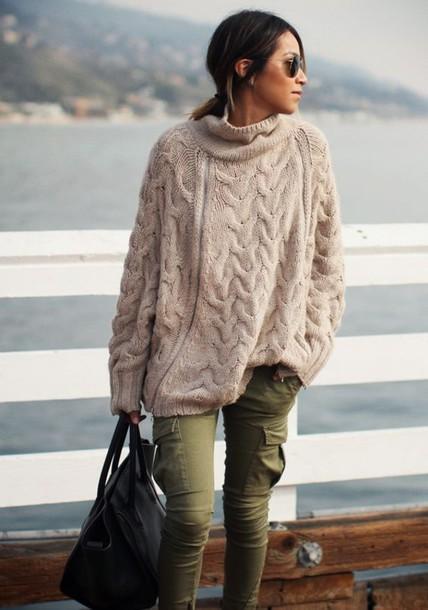 764pka-l-610x610-pants-army+green-knitwear-khaki+pants-heavy+knit+jumper-oversized+sweater