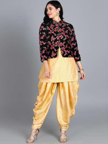 ad0acffc-56c7-43bc-b66b-b7e91451322b1564143436657-Bollywood-Vogue-Customised-Beige-Jacket-Style-Dhoti-85515641-1